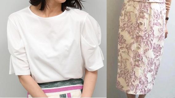 吉高由里子『わたし定時で帰ります』第10話着用白いトップスとピンクの花柄スカート