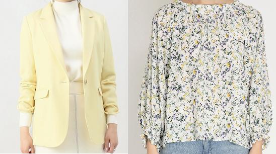 吉高由里子『わたし定時で帰ります』第2話着用花柄ブラウスと黄色いジャケット