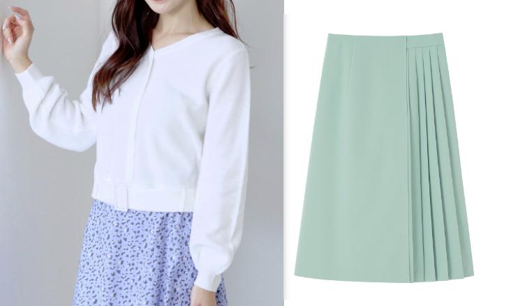 『わたし定時で帰ります』第2話吉高由里子着用白いトップスとグリーン系のスカート