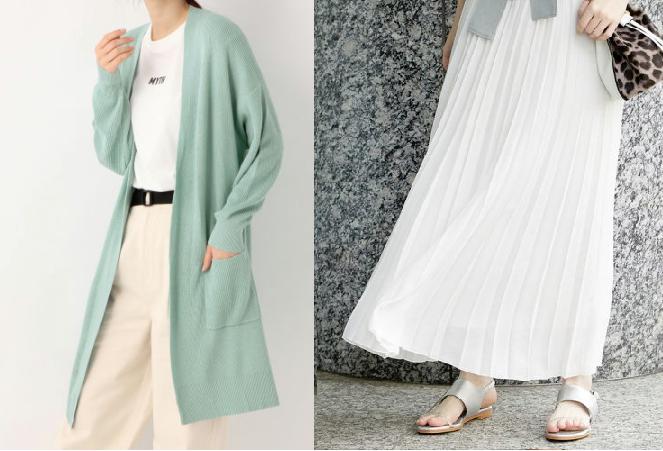 『わたし定時で帰ります』第5話吉高由里子着用白いスカートとロングカーディガンのコーデ