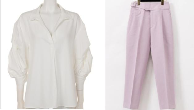 吉高由里子『わたし定時』7話の白いブラウスとピンクのパンツ
