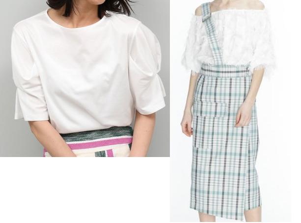 吉高由里子『わたし定時で帰ります』9話のチェックのスカートのコーデ