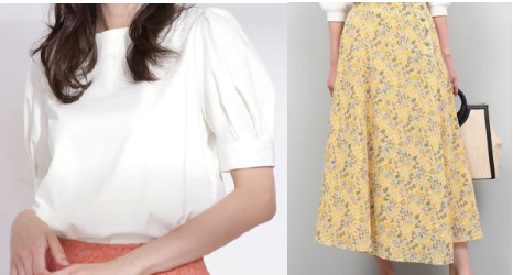 吉高由里子『わたし定時で帰ります』9話の花柄スカートのコーデ