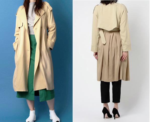 吉高由里子がドラマで着用していたNINEのトレンチコート